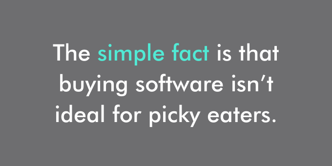 Buying software may not be right for you.